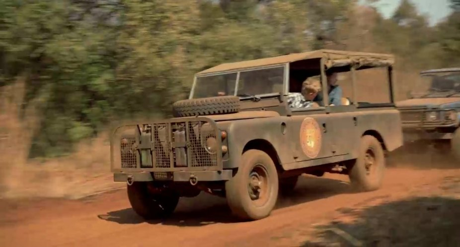 Land-Rover 109'' Series III Station Wagon with top removed
