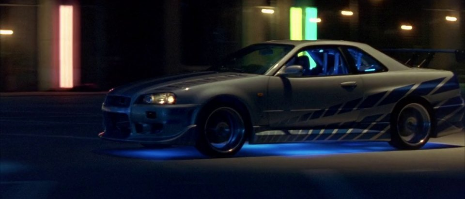 1999 nissan skyline gt r r34 in 2 fast 2 furious 2003. Black Bedroom Furniture Sets. Home Design Ideas