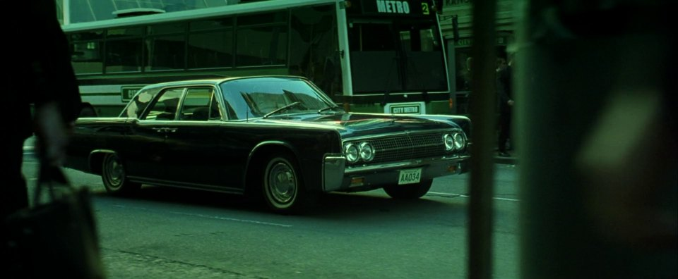 1963 lincoln continental in the matrix revolutions 2003. Black Bedroom Furniture Sets. Home Design Ideas