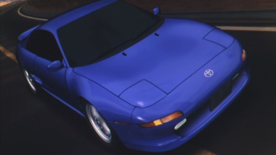 Toyota MR2 (SW20), blue,