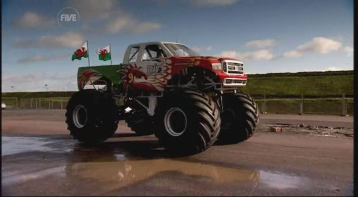 Custom Made Monster Truck Bodied as an F-Series Super Duty