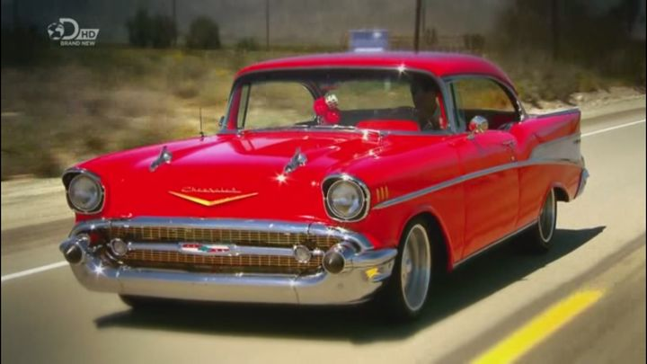 I on 1957 Chevy Bel Air