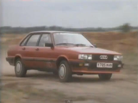 1983 audi 80 quattro b2 typ 85 in top gear. Black Bedroom Furniture Sets. Home Design Ideas