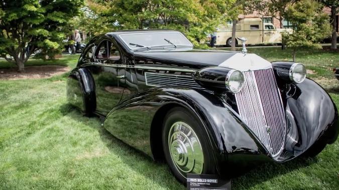 1925 rolls royce phantom aerodynamic coup jonckheere in jay leno 39 s garage 2006 2019. Black Bedroom Furniture Sets. Home Design Ideas