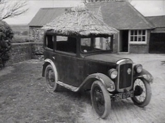 1931 Austin Seven Short wheelbase steel saloon with thatched roof [RL]